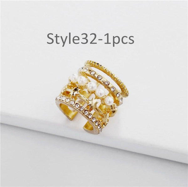 Style 32 CZ Diamond Big C Color Ear Cuff Stackable 1pcs