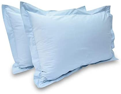 "400 Thread Count 2 Pcs Pillow Shams 100% Egyptian Cotton Solid/Plain (Standard 20"" x 26"", Sky Blue)"