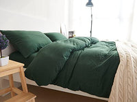 "Household 100% Jersey Cotton Queen Size Pillowcase 20""x30""-Light Weight, Comfortable, Extremely Durable Set of 2 (Dark Green) …"