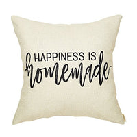 Fahrendom Rustic Love Grows Best in Little Houses Farmhouse Style Inspirational Décor Family Decoration Cotton Linen Home Decorative Throw Pillow Case Cushion Cover for Sofa Couch 18 x 18 Inch