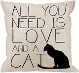HGOD DESIGNS Throw Pillow Case Black and White Cotton Linen Square Cushion Cover Standard Pillowcase for Men Women Home Decorative Sofa Armchair Bedroom Livingroom 18 x 18 inch