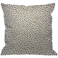 HGOD DESIGNS Polka Dot Throw Pillow Cover,Spot Irregular Scatter Doodle Scattered Snow Pieces Black and White Design Decorative Pillow Cases Linen Square Cushion Covers for Home Sofa Couch 18x18 inch