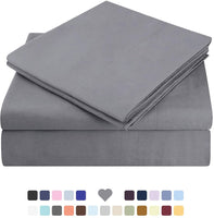 HOMEIDEAS Bed Sheets Set Extra Soft Brushed Microfiber 1800 Bedding Sheets - Deep Pocket, Wrinkle & Fade Free - 4 Piece(Queen,Mocha)