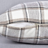 "NATUS WEAVER 2 Pack Cool Stripe Check Pillow Cases Soft Linen Square Decorative Throw Cushion Cover Pillowcase with Hidden Zipper for Sofa - 12"" x 20"" Gray Multi Color"