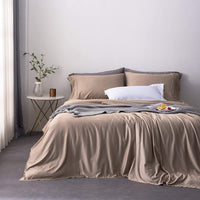 Oasis Fine Linens Island Bamboo Collection Softest Hypoallergenic Sheets (Queen, Silver Sage)