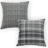 XBUTY 2 Pack Linen Home Decor Pillow Covers Decorative Square Pillowcase Soft Solid Cushion Case for Sofa Bedroom Car 18 x 18 Inch