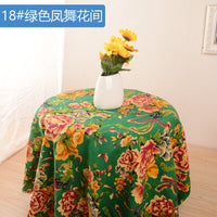 1 Meter Boho Floral Cotton Printed Linen Cloth Ethnic Upholstery Fabric Vintage Curtains Textile Bag Jacquard Dress Fabric Tissu