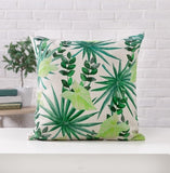 Tropical Green Plant Palm Leaf Leaves Monstera Printed Pillow Cushion Cover For Sofa Car Home Almofadas 45x45cm