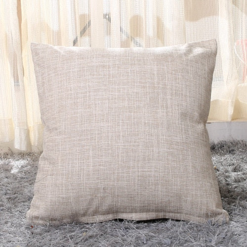 Solid Linen/Cotton Sofa Car Cushion Cover 40*40/45*45/50*30/50*50/55*55m Throw Pillowcase Office Home Decor Pillow Case Cojines