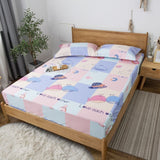 Bonenjoy TPU Waterproof Material Bed Sheet with Rubber Elastic Single Size Bed Linen for Kids Cartoon Bed Fitted Sheet Sets
