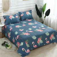 3 Pcs Bed Set Bed Sheet +2 Pc Pillowcase Bed Linen Mattress Covers Fitted Sheet Flat Sheet Bedsheet Queen King Full Twin Size