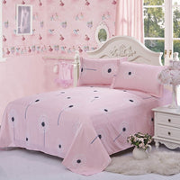 Dandelion Print Polyester Flat Sheet Sanding Bed Sheet For Children Adults Single Double Bed Linens (No Pillowcase) XF337-9