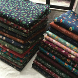 145x100cm Pure cotton and linen printed cloth small fragments cloth Vintage pastoral clothing fabric 210-260g/m