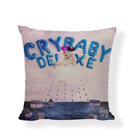 Wholesale Melanie Martinez Crybaby Cushion Covers 45*45 cm Girl Cloud Rain Pacifier Design Office Car Home Decoration Pillowcase