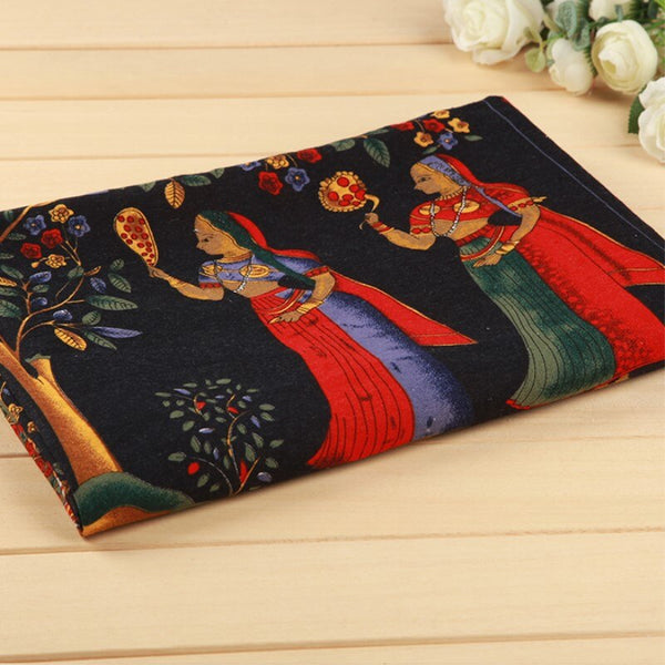1 piece of active printed fabric for sewing width 57/58 inches linen cotton fabrics ancient Egypt cloth vintage DIY 1816