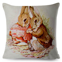 Peter Rabbit Pillowcase Decor Animal Cushion Cover for Sofa Home Car Cute Cartoon Pillow Case 45*45 Thick Print Pillow Covers