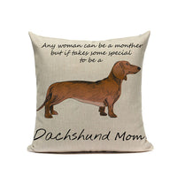 Dachshund Dog Cushion Cover Cotton Linen Custom Cushion Cover For Living Room Sofa Decorative Pillows Home Decor Kussenhoes