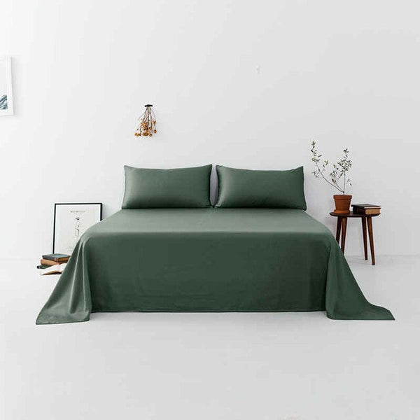Liv-Esthete 100% Natural Silk Gray Flat Sheet Luxury Silky Bed Linen Pillowcase Healthy Skin Double Queen King For Women Men