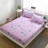 Quality 1 pcs Bed Sheet Polyester/cotton Bed Linen Mattress Covers Fitted Sheet Sets Flat Sheet Bedsheet Queen King Full Size