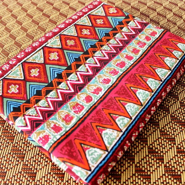 50x150cm Red Vintage Cotton Fabric Table Cloth Diy Handmade Sewing Pillow Cover Patchwork Sofa Curtain Tablecloth Decoration