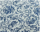 PPCrafts Cotton fabric clothing print of blue and white porcelain manual curtain tablecloth pillow fabric vintage China