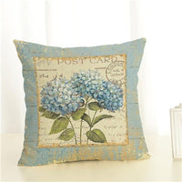 Flowers Style Linen Pillow Case Animal Flower Moon Cushion Cover Sailing Mermaid for Sofa Home Decorative Throw Pillow Cover
