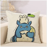 Cute Cartoon Totoro Lovely Throw Pillow Case Cover Square Shape Chinchillas Cushion Cover For Sofa Home Capa De Almofadas 45x45