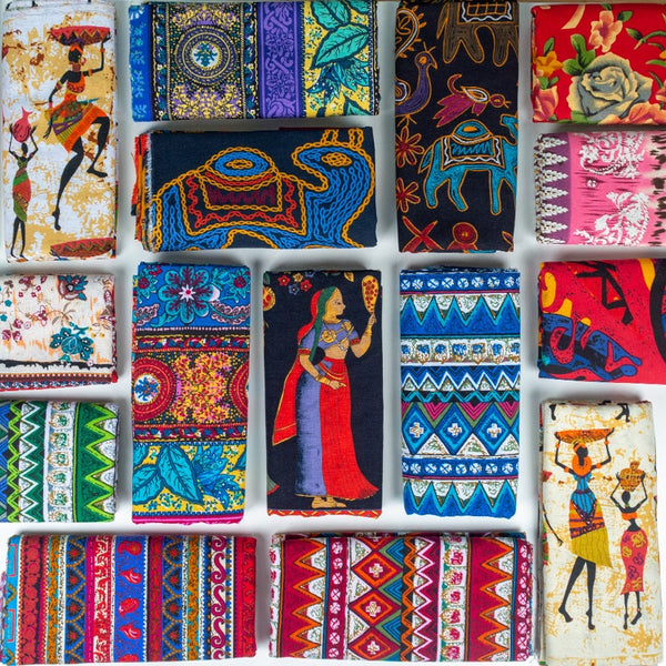 African fabric Cotton Linen vintage printing cloth DIY Handmade Textile Sewing Patchwork For Bags Dress tablecloth 150*50cm