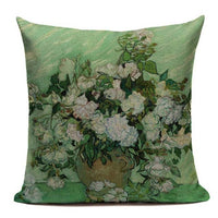 Vintage Decorative Cushion Covers Pink Green Plant Spring Pillow Covers High Quality Flower Sofa Cover For Room Customizable