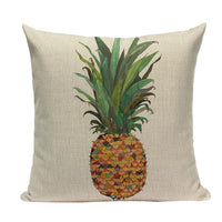 Custom Cushion Covers Pineapple Pillow Case Tropical Style Linen Ananas Almofadas 45Cmx45 Cushion Cover Square Home Decor Pillow