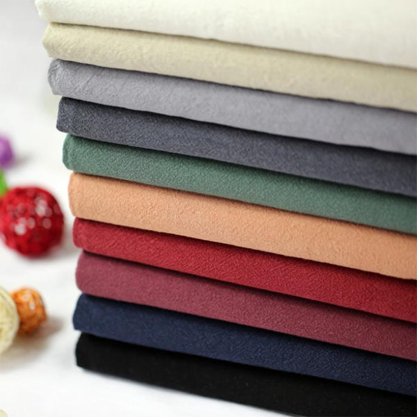 2019 Vintage Cotton Linen Fabric Soft water-wash Handmade DIY for Dress Patchwork Sewing (1 meter)