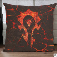 2016 WOW Warcrafted Flim The Horde Vintage Throw Pillow Case Home Sofa Bedside Backrest Decoration Cushion Cover 3D