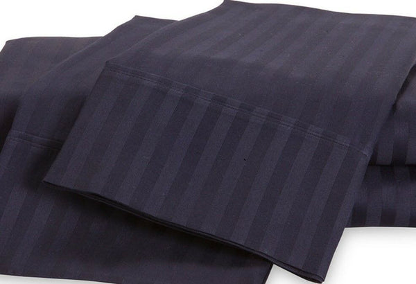 (2) Luxor 100% Egyptian Cotton Pillow Cases 400 TC ~ King 20 x 40 ~ Navy *NEW*