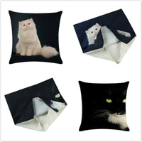 Lovely Cat Car Sofa Home Linen Cushion Cover Pillow Case Throw Cartoon Decor Sha