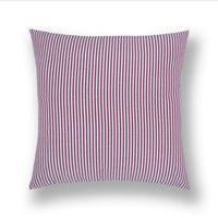 Red Plaid Stripe Cotton Linen Throw Pillow Case Cushion Cover Sofa Home Decor