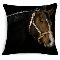3D Printed Horse Pattern Throw Pillow Case Cotton Linen Cushion Cover Home Decor