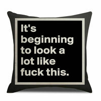 "Letter""fuck""Pillow Cushion Covers Linen Throw Pillow Case Home Decor 18"" Square"