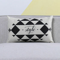 "18"" Cotton Linen Geometric Printed Decor Throw Pillow Case Cushion Cover"