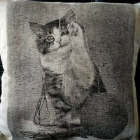Linen pillow-case with a picture. High European quality 100%