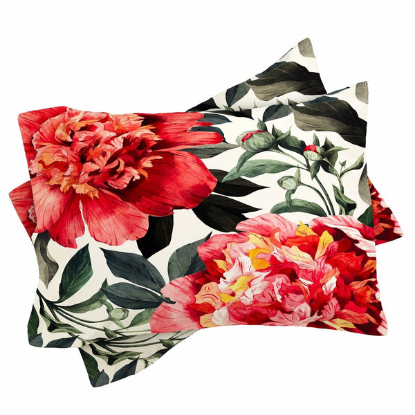 Deny Designs Marta Barragan Camarasa Flowers King Pillow Cases Set of Two BL4