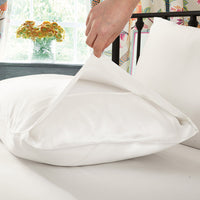 LILYSILK 100% Mulberry Silk Terse Pillowcase Ivory Queen Standard King 19 Momme