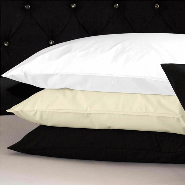 100% Cotton Fitted Bed Sheets Pillow Cases Single Double King Size Bedding