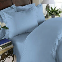 1000 Thread Count Egyptian Cotton PILLOW CASE Set Standard / Queen Blue Solid