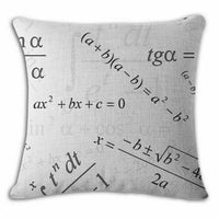 Fashion Pillow Cotton Linen Throw Case Cushion Cover Home Sofa Decor Equation