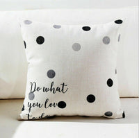 Geometry Lettern Cushion Cover Cotton Linen Waist Throw Pillow Case Sofa Home