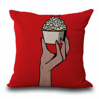 ART Culture Sofa Decor Cotton Linen Pillow Case Throw Cushion Cover 18""