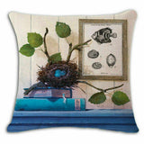 18in Linen Cotton Throw Pillow Case Cushion Cover Home Sofa Decor