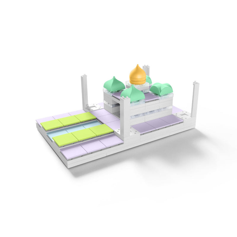 Arckit Citiyscape+ miniature city model set in pastel-colored components