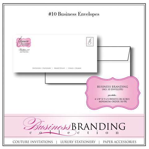 #10 Business Branded Envelopes