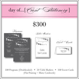 $300 day of Event Stationery
